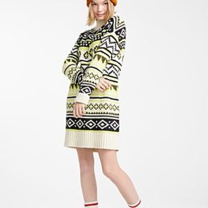 Nordic patterned knit sweater dress NWT